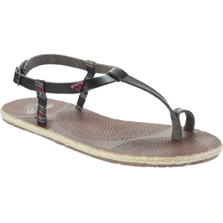 Entertainment After the suit is hung up to dry, the sand is washed from your hair, and the rubber beach sandals are pushed aside, it's time to slip something comfortable over your sun-kissed skin. The dinner-worthy Roxy Women's Mustique Sandals, for example. - $18.00