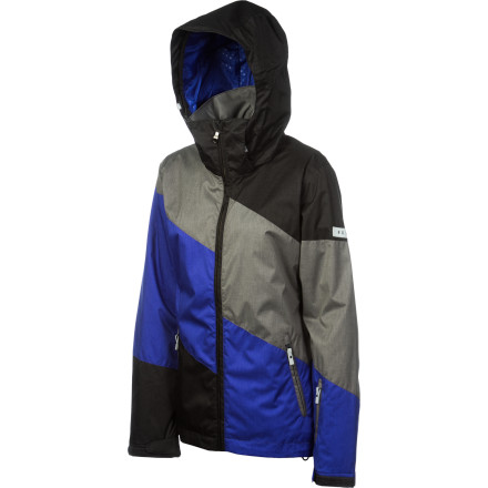 Snowboard Zip up in your Roxy Women's Lily Pad Jacket and make a run for the lift. This sleek, fashion-forward jacket pumps up your look with bold color-blocking while the technical features, like strategically placed insulation and a DWR finish, keep you feeling good while you ride. - $78.75