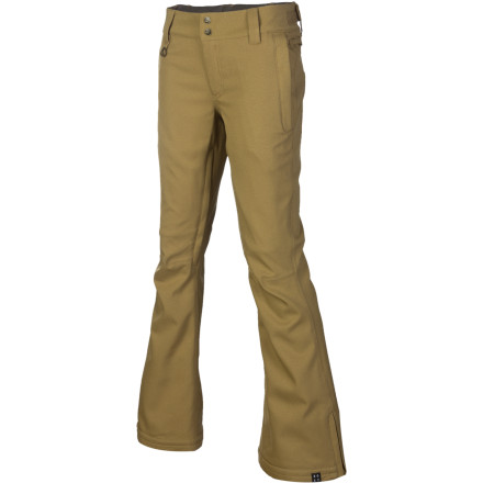 Snowboard The Roxy Women's Canyon Pant throws down with a sleek, slender look that will keep you from looking like an baggy marshmallow on a snowboard. This pant is great for resort days, and it can take you from the park to the side country without breaking a sweat. - $88.00