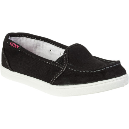 Surf Somewhere between your flip-flops and sneakers, the Roxy Girls RG Lido Shoe will provide comfort and support with a laid-back look and feel. - $19.20