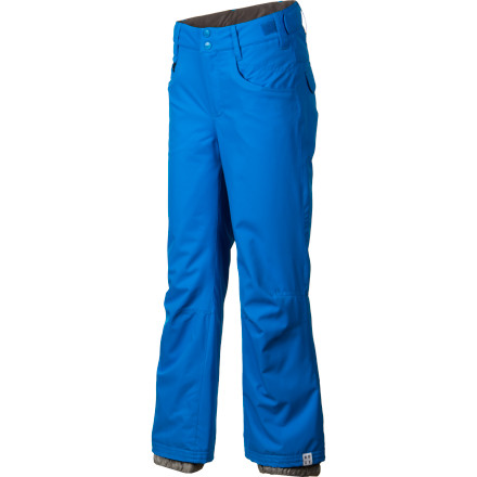 Snowboard QuikTech 5-K waterproofing and 60-gram all-over insulation make the Roxy Girls' Hibiscus Pant ready to ride when the weather starts acting up. But it's the traditional 5-pocket jean styling and a regular fit that really help the Hibiscus Pant to blossom. - $59.50