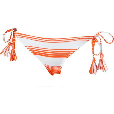 Surf Roxy Indian Beach Fringe Brazilian Bikini Bottom - Women's - $18.00