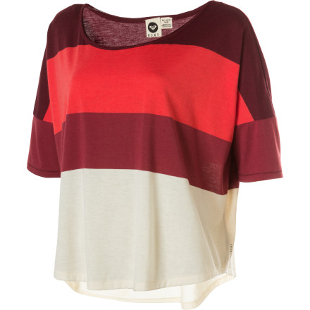 Surf You still have fifteen days before you have serious worries, but don't underestimate the effect of the Roxy Women's Half Moon Shirt on males of our species even now. This cropped colorblock top with sexy dropped shoulders will have them sniffing around and attempting to mark their territory in no time. - $21.73