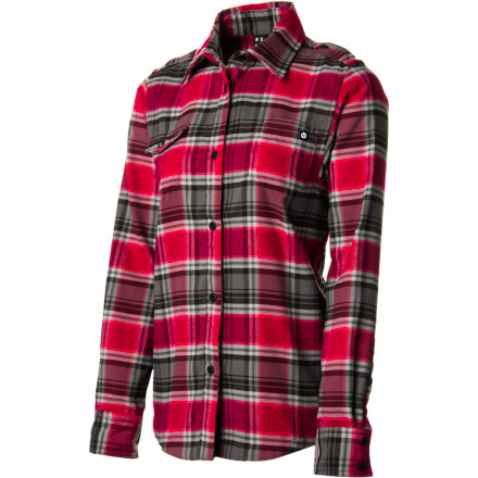 Surf The Roxy Cold Air Riding Women's Shirt might be the most versatile flannel ever. Layer under a shell for added warmth, wear it as your outer layer on slushy spring days, or simply wear it as an everyday shirt; heck, you might not take it off until next summer. - $34.00