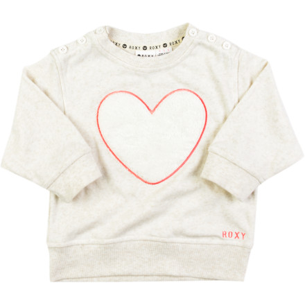 Surf Roxy Free Heart Pullover Sweatshirt - Girls' - $15.20