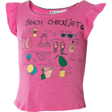 Surf The Roxy Little Girls' Cross My Heart Short-Sleeve Top gives your gal a sweet-as-sugar look even if she happens to be full of spice. - $14.00