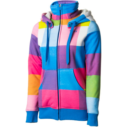 Surf The Roxy Women's Spruce Fleece Jacket makes you feel like you're on cloud nine. With the cozy Sherpa lining, chill appearance, and feminine fit, you can just lie back and float away. - $66.50