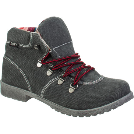 Camp and Hike With the aesthetics of a laid-back beach shoe and a few cues from a hiking boot, the Roxy Balsam Boot transcends athletic, casual, and dress-up. - $35.40