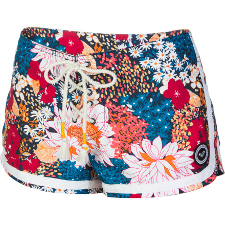 Surf The Roxy Daisy Rhapsody Restless Sun Board Shorts add some flower flavor to any summer day. - $33.60