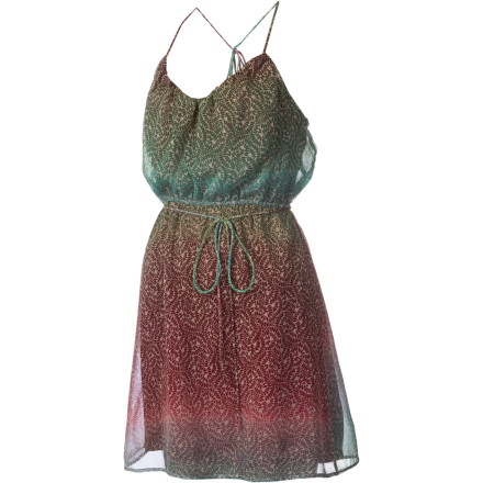 Entertainment When you're in a pinch as to what to wear, choose the Roxy Women's Creek Bed Dress. Its free-spirited appearance gives you an easy-to-talk-to vibe when you attend a wine tasting party at your boyfriend's family's house. - $31.60