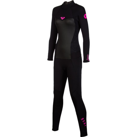 Surf Even though the water is colder than usual, you're still out there catching waves in your Roxy Synchro Series 4/3 Women's Wetsuit. HyperStretch 3.0 neoprene is thick enough to keep you warm in chilly water, but super-stretchy so your movement isn't restricted, and a VaporStretch panel on the chest provides additional warmth around your core where you need it most. - $139.46