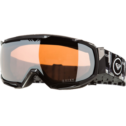 Snowboard Ladies seeking the ultimate in comfort and vision need look no further than the Roxy Isis Goggle. The low-profile frame equipped with super comfy fleece-backed foam makes the Isis lightweight and unobtrusive, and the 160-degree spherical lens provides unrestricted vision so you can spot your landing on that cab 540 every time. - $95.97