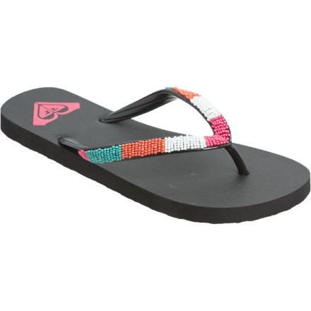 Surf The line can go all night if the crowd is right and the mood is light. The Roxy Conga Sandals bring lightweight cushioning and sweet sparkles into your all-night dance parties. - $11.00
