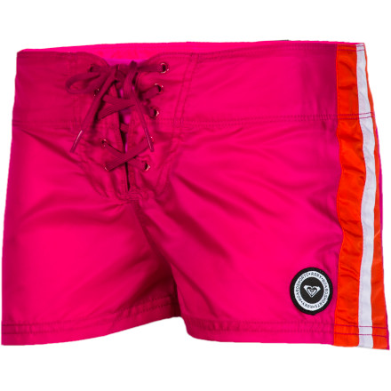 Surf Make a great bikini even better and pull on the Roxy Women's Mellow Swell Board Short. This short-short boardie features contrast stripes on the sides and a sporty look that just won't quit. - $22.00
