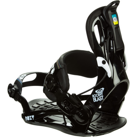 Snowboard Blast off the chair and down the slopes with a minimum of fiddling and diddling and no sitting in the snow when you have the Roxy Women's Rock-it Blast Snowboard Binding attached to your board. Just slide your foot into the binding (with the straps already set at your preferred spot), flip up the reclining highback, and go. - $113.97