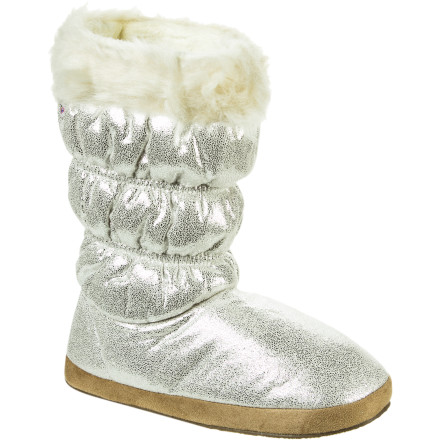 Entertainment The Roxy Women's Candy Cane Boots bring bling to your feet, but unlike the diamond-studded, gold bullion stilettos you were eyeing, these boots will actually keep you comfortable. - $24.50