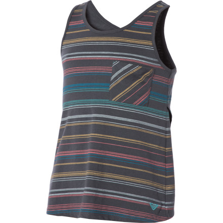 Surf The Roxy Girls' Beach Beauty Tank Top has your back during the hot summer months when all you want to do is chill with friends on the beach, boardwalk, or at the arcades. - $17.70