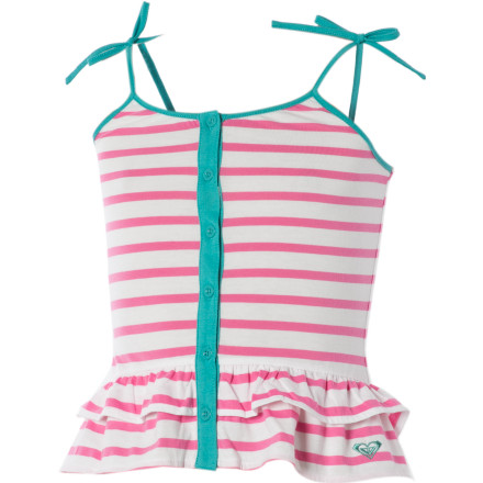 Surf Put the Roxy Little Girls' Jump Rope Tank Top on your little gal before you both leave the house to enjoy the town's weekly music festivities in the park. - $11.80