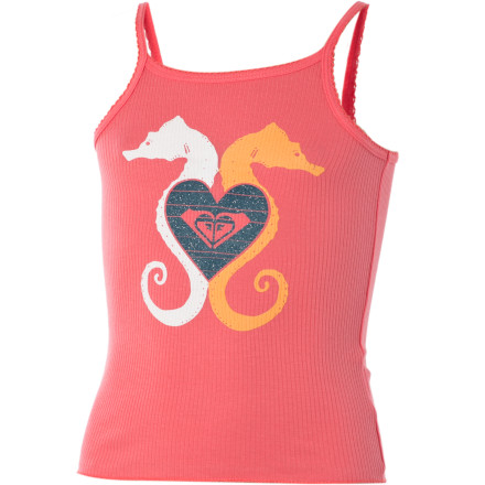 Surf The Roxy Little Girls' See Horse Tank Top gives you an excellent idea to beat the heat. Simply fill up your little munchkin's kiddie pool, place a chair close by, and dangle your feet in the water while she splashes and plays with her toy dolphin and sea horse. - $10.00