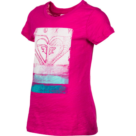 Surf The Roxy Girls' Listen Up Short-Sleeve T-Shirt feels simply divine when you pull it over your head and onto your skin. This simple tee works with everything from shorts to a skirt for a laid-back look. - $13.00