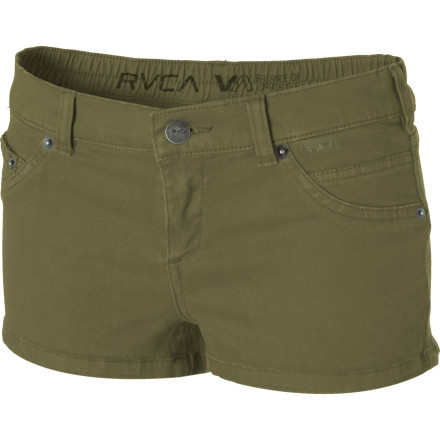 Entertainment If you have to look at another pair of rhinestoned-covered shorts, you're going to puck. No need to worry, though; RVCA's simplistic and easy-to-wear Women's Slacker Short is ready to come to the rescue. Its easy-going style and comfortable fabric makes the Slacker a gem that you can easily dress up or dress down. - $14.84