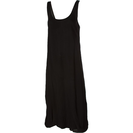 Entertainment The RVCA Savage Country Maxi Dress gives you a breezy, summery look, and the side slits make it easy to get to that flask you have strapped to your thigh. The elongated back hem gives this dress a sense of movement. Plus, the longer hem will hide the gang signs you had tattooed on your calves. - $19.79