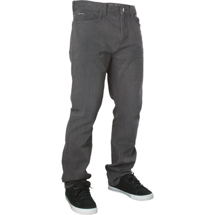 Looking for some denim that won't explode the first time you bail on a nine-stair Check out the RVCA Heavy Chev Denim Pant. A mostly-straight, slightly tapered profile keeps you looking good, while stretch denim fabric won't restrict your frontside flicks. - $71.95