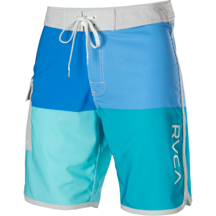 Surf The RVCA Quadro Board Short doesn't mind if you spill a little beer on it. However, if you empty an entire longneck onto your own crotch, it may be time to rinse in some seawater and sober up. - $61.95