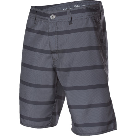 Parties by the pool always lead to wet clothes or naked swimming. Be ahead of the curve with the RVCA Bowery Hybrid Short, which feels and looks as good on land as it does in water. - $27.88