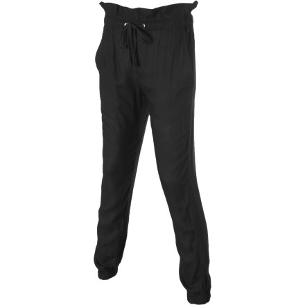 Paired with a silky, flowy top the RVCA Women's Skyward Pant provides an upscale look that'll easily win over your future employer's heart. - $34.77
