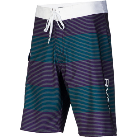 Surf Even if you don't have a stylish entrance to the water under your belt (swan dive, double gainer), the RVCA Civil Stripe 20in Board Short will help boost your score with its cool stripes and stuff. - $53.96
