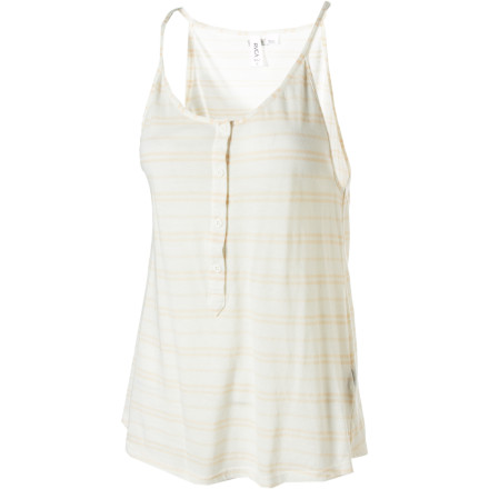 Surf The RVCA Later Love Tank Top remixes the summer tee with a sleeveless and loose silhouette and ties it all together with stripes that you'll be smitten over. - $13.58