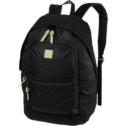 Camp and Hike The RVCA Canteen Backpack presents a simple style and enough room to organize your complex and tightly scheduled life. Durable materials, contrasting trim, and subtle branding quench your thirst for everything you need in a backpack. - $39.45