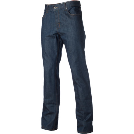 The RVCA Chev Extra Stretch Denim Pant offers durability and mobility for both everyday wear and activities that put lesser denim through the ringer. RVCA's regular fit keeps you comfortable without being too baggy or too loose, while both colorways go from casual with tees and caps to button-downs and combed hair without missing a beat. - $63.95