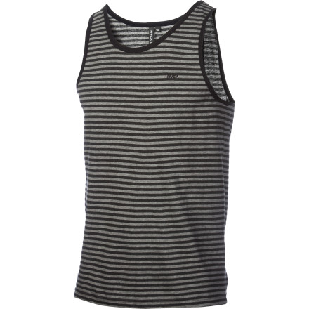 Surf Harvest some sweet style and show off your muscles in the RVCA Grain Tank Top. If you don't have muscles, you can always lend it to someone who does. - $20.37