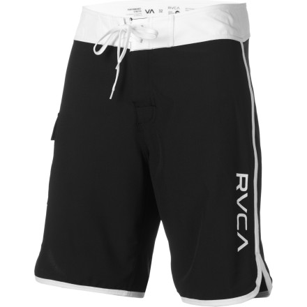 Surf Crisp style and stretchy material make the RVCA Eastern 20in Board Short perfect for lazy days spent poolside or getting after swells in warmer temps. - $44.96