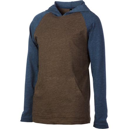 RVCA Castro Hooded Shirt - Long-Sleeve - Boys' - $16.98