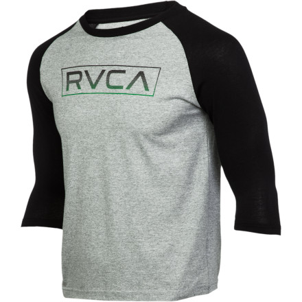 Sports RVCA Tone Baseball Raglan T-Shirt - 3/4-Sleeve - Boys' - $11.98
