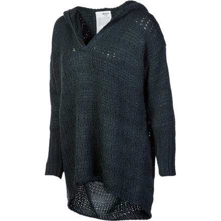 The best thing about chilly weather is the chance it gives you to layer rich knits like the RVCA Women's Cozy Beat Sweater. Wear this hooded sweater when you want a look that is earthy yet glamorous. - $38.98