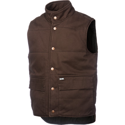 Skateboard Reach for the RVCA Men's Deerlick Vest when you're on your way out the door and you realize you need just a tiny bit of extra warmth. This comfy denim vest is the final touch before you skate around the city on sunny fall afternoons or take your townie for a spin to the hardware store. - $61.46