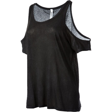 Entertainment The RVCA Women's Pistol Whip Short-Sleeve Shirt gives you the airy feel of of a tank top and the elegant look of a designer top. Rock this sleek, sexy top with a great pair of jeans or dress it up with a skirt to create a more refined ensemble. - $26.55