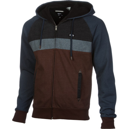 The RVCA Men's Tripper Full-Zip Hoodie wraps you in comfort while you wait out the brutal winter storm. - $63.56