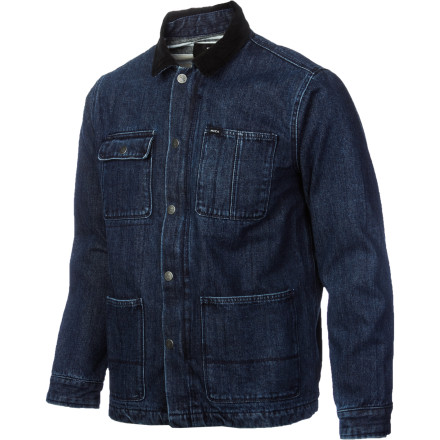 The RVCA Men's Barnstorm Jacket gives you that timeless denim style you need to turn your old T-shirt and jeans outfit into a super-slick, put-together look. - $80.57