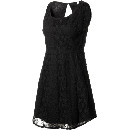 Entertainment The RVCA Women's Charming Dress has you at first glance, thanks to its vintage-style lace fabric, exposed back design, and easy, flowy fit. Ideal for cocktail parties, gallery openings, and other special occasions, the Charming provides a sophisticated, fresh look that wows everyone in the room. - $29.73