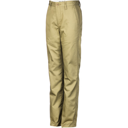 Whether it's photo day at school or time to visit Grandma, have him look his best in the RVCA Boys' Weekday Pant. This twill chino pant has a regular fit so your young man looks and feels comfortable when he's showcasing his good manners. - $45.95