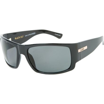 Entertainment Block out 100% of the sun's harmful UV rays with Sabre Vision Black Out Polarized Sunglasses. The over-sized lenses thwart the attacks of sneaky rays trying to creep in from the sides, and polarizing filters knock out glare so your vision is clear, even on the brightest days. - $124.95