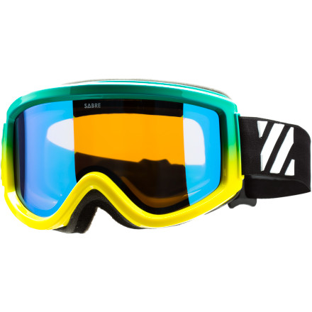 Ski The Sabre Soul Shredder goggle doesn't really shred your soul, but it does protect your eyes with 100% UV protection and your face with layered, breathable face foam. - $72.21
