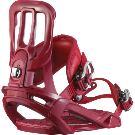 Snowboard The Salomon Rhythm Snowboard Binding is all about suiting your style. It comes in a variety of colors to suit your style, is versatile enough for you to ride the park the way you want to ride it, and is comfortable enough for all-day riding no matter where or what you choose to shred. - $77.94