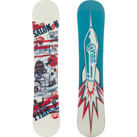 Snowboard The Salomon Fierce Snowboard is a whole lot more than just a beginner board. This kid-specific model features a toned-down flex, true-twin shape, full wood core, and forgiving yet stable flat profile for a progression-oriented ride that'll take your mini-ripper from their first turns to their first backside 360. - $119.94