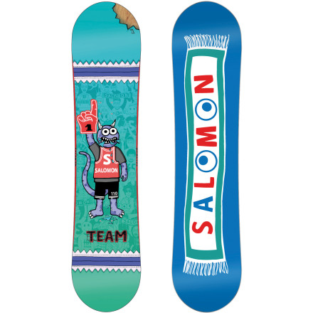 Snowboard Kids learn fast, so it's important to have a board that's fun and easy to ride at any level of riding. Enter the Salomon Team Kids' Snowboard, featuring a flat profile that prevents edge-catching without sacrificing stability and control. The Team also has a durable aspen core that provides a forgiving flex, but won't break when he starts learning new tricks in the park. - $107.94